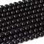 15 Inch 8mm Round  Black Agate Beads